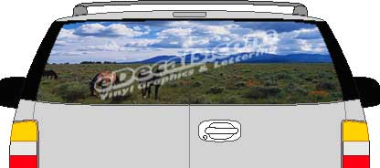 CLR108 Horses Vision Rear Window Mural Decal