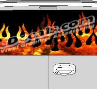 CLR111 Fire Flames Vision Rear Window Mural Decal