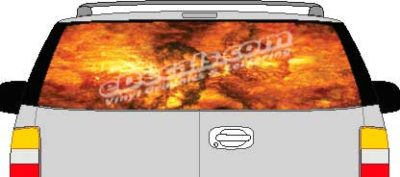 CLR113 Fire Vision Rear Window Mural Decal