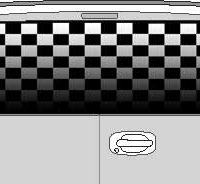 CLR115 Checkered Flag Fade II Vision Rear Window Mural Decal