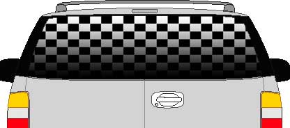 CLR115 Checkered Flag Fade II Vision Rear Window Mural Decal