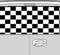 CLR119 Checkered II Vision Rear Window Mural Decal