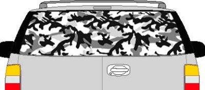 CLR123 Urban Camoflage I Vision Rear Window Mural Decal