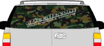 CLR124 Dark Woods Camoflage I Vision Rear Window Mural Decal