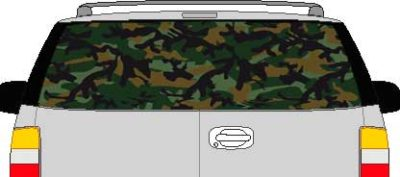 CLR125 Camoflage I Vision Rear Window Mural Decal