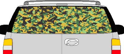 CLR127 Thick Camoflage I Vision Rear Window Mural Decal