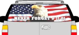 CLR131 Remember 9-11 Vision Rear Window Mural Decal