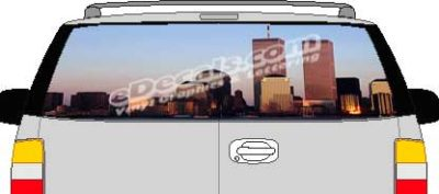 CLR134 WTC Vision Rear Window Mural Decal