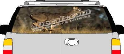 CLR135 Brown Deer Vision Rear Window Mural Decal