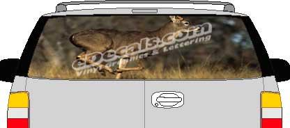 CLR135 Brown Deer Vision Rear Window Mural Decal