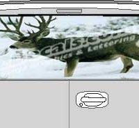 CLR137 Snow Deer Vision Rear Window Mural Decal