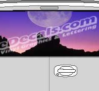 CLR141 Moon Landscape Vision Rear Window Mural Decal