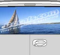 CLR142 Sailboat Vision Rear Window Mural Decal