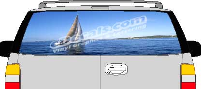 CLR142 Sailboat Vision Rear Window Mural Decal