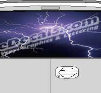 CLR143 Lightning Vision Rear Window Mural Decal