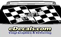 CLR152 Finished Line Checkered Flag I Vision Rear Window Mural Decal