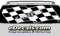 CLR153 Finished Line Checkered Flag II Vision Rear Window Mural Decal