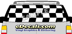CLR156 Flip Flop II Checkered Vision Rear Window Mural Decal