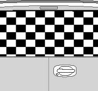 CLR157 Checkered Flag V Vision Rear Window Mural Decal