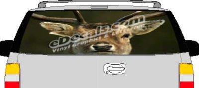 CLR163 Deer Rack Vision Rear Window Mural Decal