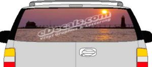 CLR167 Lighthouse Sunset Vision Rear Window Mural Decal