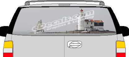 CLR168 Lighthouse Vision Rear Window Mural Decal