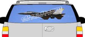 CLR171 Navy Airplane Vision Rear Window Mural Decal