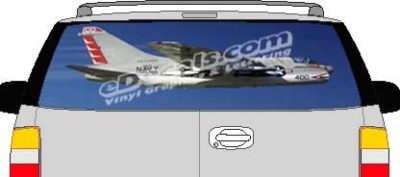 CLR172 Navy A7 Fighter Airplane Vision Rear Window Mural Decal