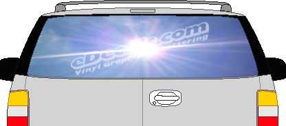 CLR177 Sun Inspiration Vision Rear Window Mural Decal