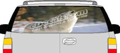 CLR179 Howling Wolf Vision Rear Window Mural Decal