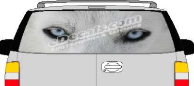 CLR180 Wolf Eyes Vision Rear Window Mural Decal