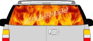 CLR181 Backdraft Fire Vision Rear Window Mural Decal