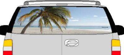 CLR184 Paradise BeachVision Rear Window Mural Decal