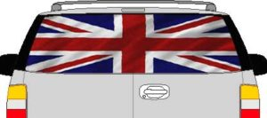 CLR188 England UK Britain Vision Rear Window Mural Decal