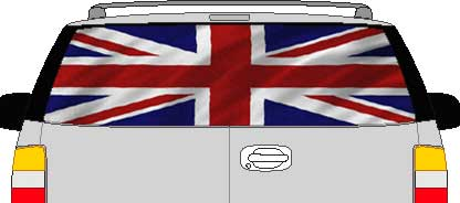 CLR188 England UK Britain Vision Rear Window Mural Decal