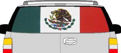 CLR190 Mexico Mexican Flag Vision Rear Window Mural Decal