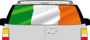 CLR191 Ireland Irish Flag Vision Rear Window Mural Decal