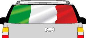 CLR192 Italy Italian Flag Vision Rear Window Mural Decal