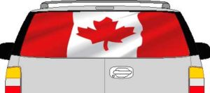 CLR193 Canada Canadian Flag Vision Rear Window Mural Decal