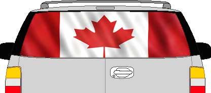 CLR194 Canada Canadian Flag II Vision Rear Window Mural Decal