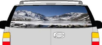 CLR197 Beautiful Sky Vision Rear Window Mural Decal