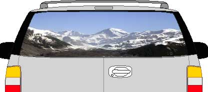 CLR198 View From Heaven Vision Rear Window Mural Decal