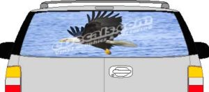 CLR205 Eagle in Flight Vision Rear Window Mural Decal
