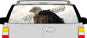 CLR206 Angry Eagle Vision Rear Window Mural Decal