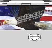 CLR209 Eagle American Flag V Vision Rear Window Mural Decal