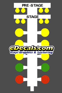 CMD101 NHRA IHRA Drag Racing Starting Line Tree Decal