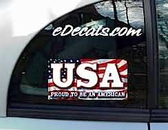 CNF152 USA Proud To Be An American Patriotic Decal