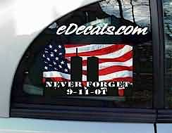 CNF153 Never Forget Patriotic Decal
