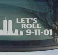 CNF156 Lets Roll Computer Cut Patriotic Decal