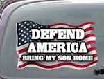 CNF162 Defend America Bring My Son Home Patriotic American Flag Decal